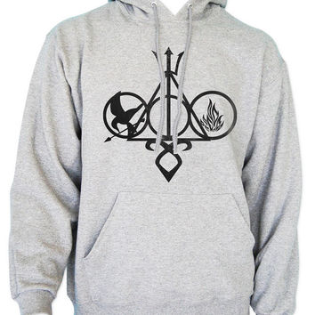 harry potter percy jackson hunger games divergent mortal instruments Unisex Hoodie Sweatshirt S to 3XL