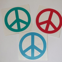 Peace Sign Decal - Car Sticker