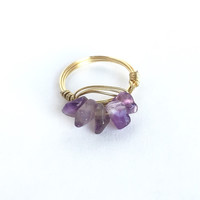 Amethyst Miner's Keeper Ring