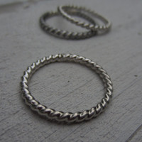 Silver Stacking Ring, Twisted Rope Ring