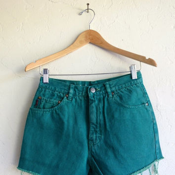 "50% OFF The ""Teal Daisy Duke"" Cut-off Shorts"