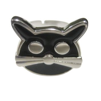 Black Cat Head Adjustable Size Fashion Ring