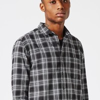 AAA Black Check Super Longline Shirt | Topman