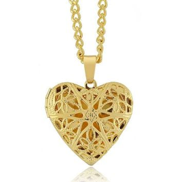 Heart Shaped Locket/Pendant With 18 Inch Necklace
