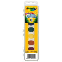 crayola washable watercolor set, nontoxic, 8-count, assorted