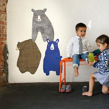 3 Bears Wall Decals