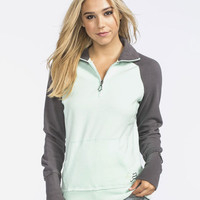 Fox Utilize Womens Sweatshirt Mint  In Sizes