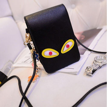 Cartoon Eyes Crossbody bag Phone Bags Cute Bags Shoulder Bags
