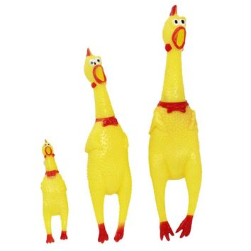 Chicken Squeeze Sound Plastic Dogs Toy