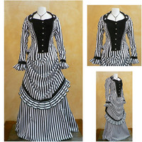 Victorian Corset Gothic/Civil War Southern Belle Ball Gown Dress Halloween dresses US 4-16 R-358 Alternative Measures - Brides & Bridesmaids - Wedding, Bridal, Prom, Formal Gown