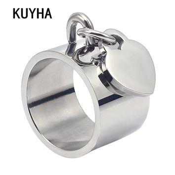 Silver Heart Rings For Women Personal Custom Design Jewelry Best Gifts Accessories High Quality