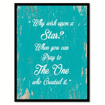 Why Wish Upon A Star Quote Saying Gift Ideas Home Decor Wall Art 111631