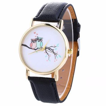 Fashion Bird Watches Women 2017 Quartz Wristwatch Casual Leather Watch Clock Woman Reloj Relogio feminino reloj de mujer #830