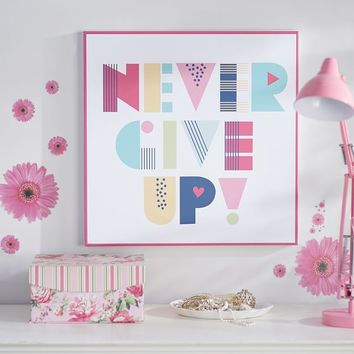 Never Give Up Wall Art