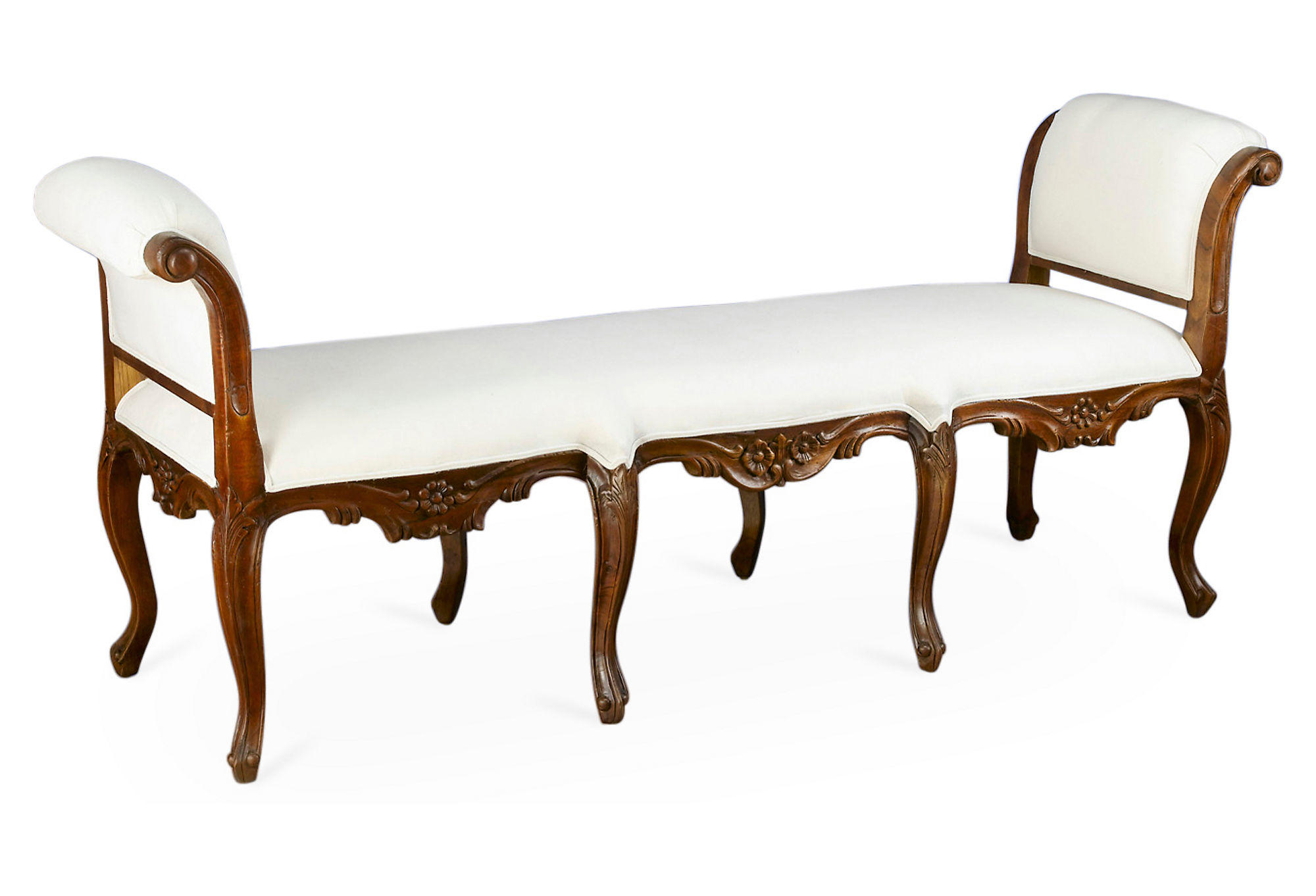 bench sophia rolled arm bedroom bench from one kings lane