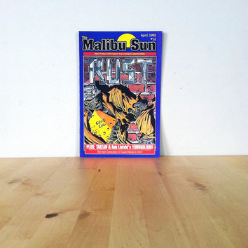 The Malibu Sun, Featuring Rust, April Issue #12 {1992} Vintage Graphic Novel
