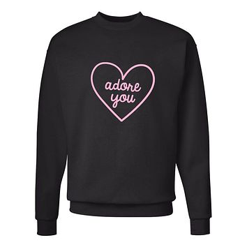 "Harry Styles ""Adore You Heart"" Crew Neck Sweatshirt (Sizes 3XL-5XL)"