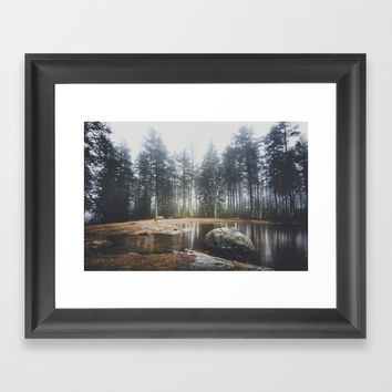 Moody mornings Framed Art Print by happymelvin