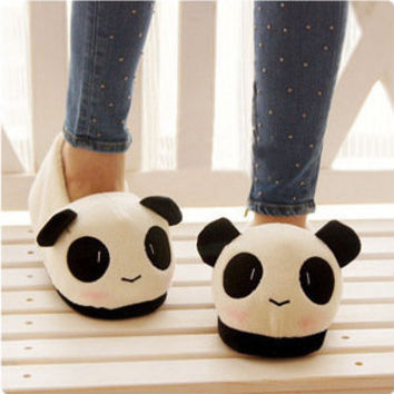 Adorable Stuffed Animal Panda Boat Shoes Slippers