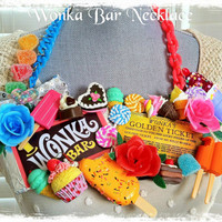 Wonka Bar and the Golden Ticket Necklace.