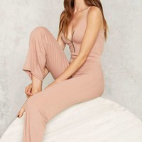 Ring It Loud Ribbed Lounge Jumpsuit