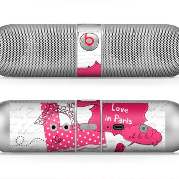 The Paris Pink Illustration Skin for the Beats by Dre Pill Bluetooth Speaker