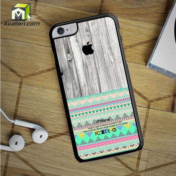 Skin Aztec Geometric Pattern On Wood iPhone 6S Plus Case by Avallen
