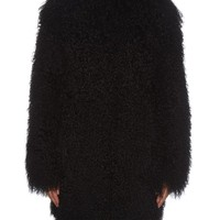 Collarless long-haired shearling coat | Yves Salomon | MATCHESFASHION.COM US