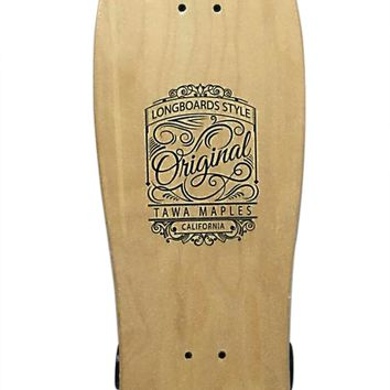 TAWA  Natural Blank & Stained Assembled Complete Longboard Skateboard