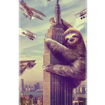 iphone 5 case, Sloth, Slothzilla, Hard Case
