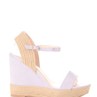 Braided Espadrille Wedges Lavender
