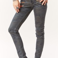 MIDRISE MULTI ZIPPER DENIM JEAN