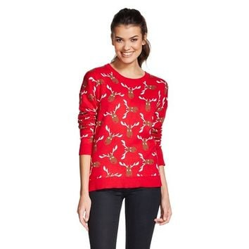 Women's Ugly Christmas Reindeer Sweater - 33 Degrees