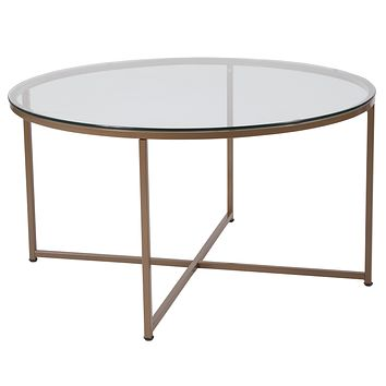 Greenwich Collection Coffee Table with Metal Frame