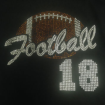 Football Rhinestone Tank Top/Shirts/Sweatshirts (Customizable)