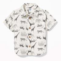 Safari Animal-Print Shirt for Baby|old-navy