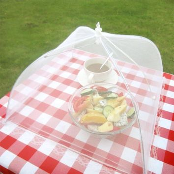 Household Food Umbrella Cover Picnic Barbecue Party Anti Mosquito Fly Resistant Net Tent For Kitchen Lunch Supper Dinner Table