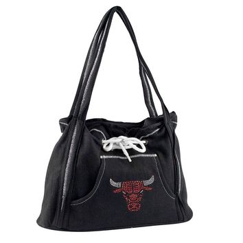 Chicago Bulls NBA Sport Noir Hoodie Purse