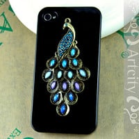 Iphone 4S case Iphone 4 Case Peacock Iphone Case by TheArtCity