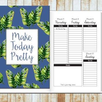 2016/2017 Weekly Planner- Make Today Pretty