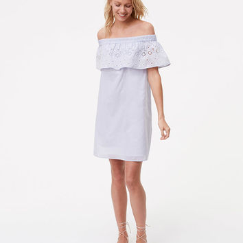 Eyelet Off The Shoulder Dress | LOFT