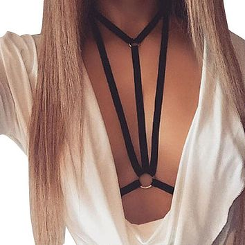 Sexy Bras For Women Elastic Strappy 2017 bra Hollow Out Sexy Push Up Bra halter bralette bandage lingerie Crop top#LRSO