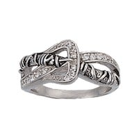 Size 8 - Barbed Wire Buckle Ring (RG1625-8)