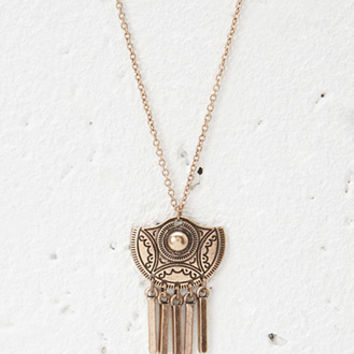 Matchstick-Fringed Pendant Necklace