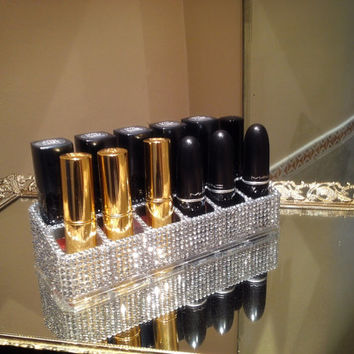 Rhinestone Lipstick Holder (Holds 12)