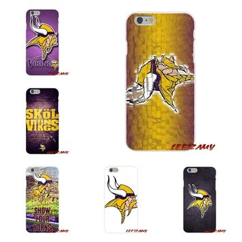 Minnesota Vikings Slim Silicone phone Case For Samsung Galaxy S3 S4 S5 MINI S6 S7 edge S8 S9 Plus Note 2 3 4 5 8