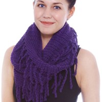 Simplicity® Women's Warm Knitted Infinity Scarf