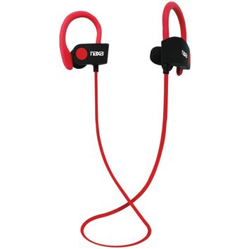 Naxa Performance Bluetooth Wireless Sport Earbuds With Ear Hook (red)