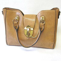 Honey Brown Purse Large Handbag