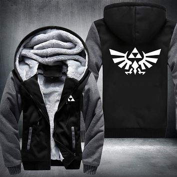 The Legend of Zelda Anime Hoodies Sweatshirt 2018 Winter Jacket Warm Hoodie Men Thick Hooded Hipster Streetwear Hip Hop Clothes
